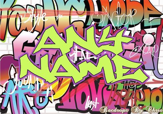 Graffiti Backdrop Graffiti Banner 80 S 90 S Hip Hop Etsy In 2020 Graffiti Backdrops For Parties Backdrops