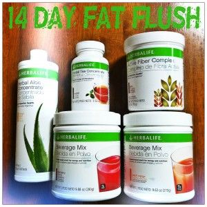 The Fat Flush:  -Herbal Tea Concentrate (1/2 Teaspoon) -Beverage Mix (2 Scoops) -Herbal Aloe Concentrate (3 Capfuls)  -Active Fiber Complex (1 Scoop)   Shake or blend with 16 ounces of water/ice.  Do this every morning for 14 days & it will help boost your protein & fiber intake along with your metabolism! The 15 grams of protein will help strengthen your muscles, burning more calories every day! Or can double recipe in 6r oz of water, call this a jet drink! Www.goherbalife.com/shake4change