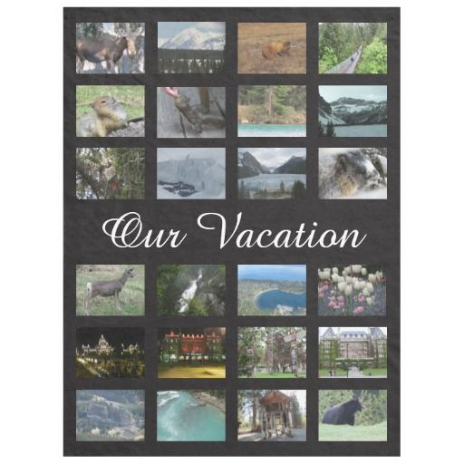 Personalized Vacation Photo add our own photos in each photo field