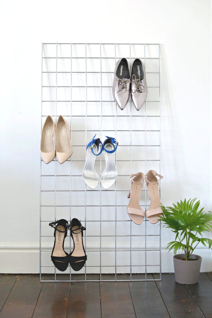 DIY | grid shoe storage display - another beautiful ideas on how to store and display your shoes!