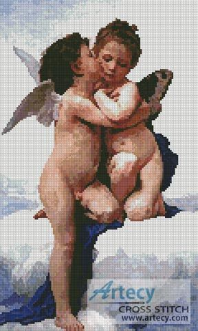 The First Kiss Counted Cross Stitch Pattern http://www.artecyshop.com/index.php?main_page=product_info&cPath=31_36&products_id=1215