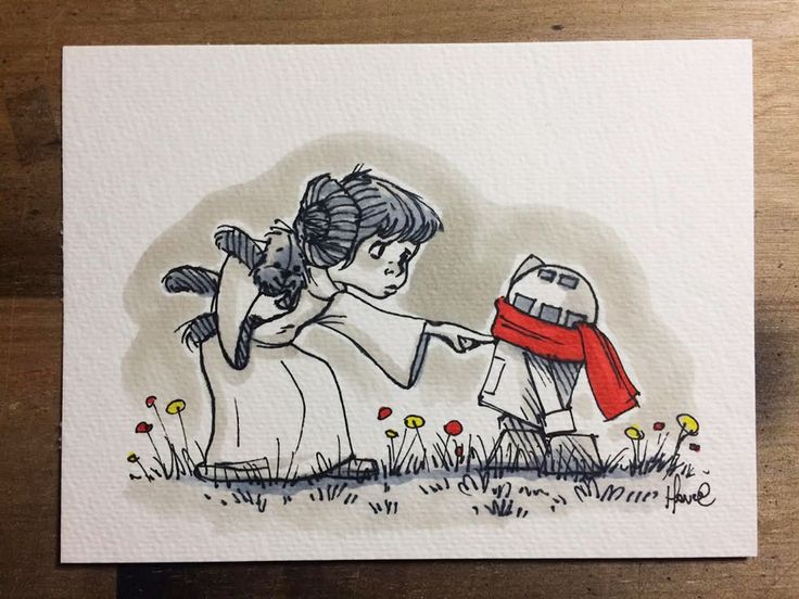 Florida based illustrator and artist James Hance just combined Star Wars with Winnie the Pooh