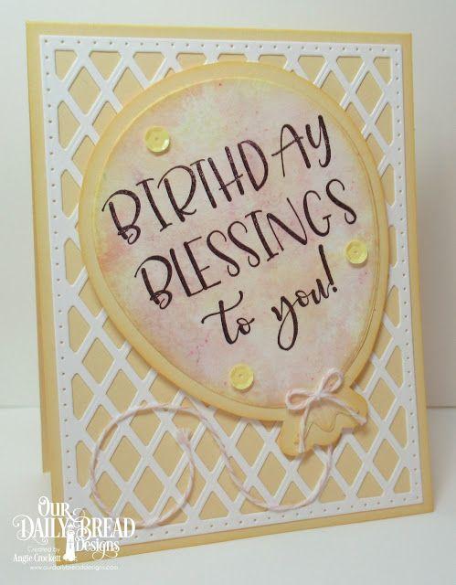 ODBD Big Birthday Bolds Custom Large Balloon Die Lattice Background Card Designer Angie Crockett
