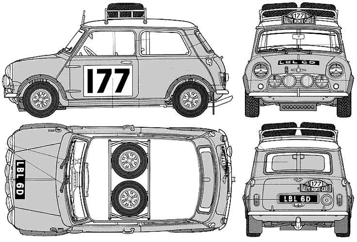 Austin Mini Cooper S 1275 Rally templates views