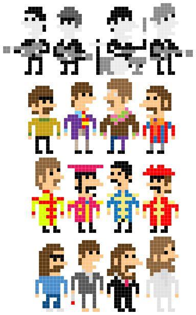 Geek Art: Personagens em 8 bits