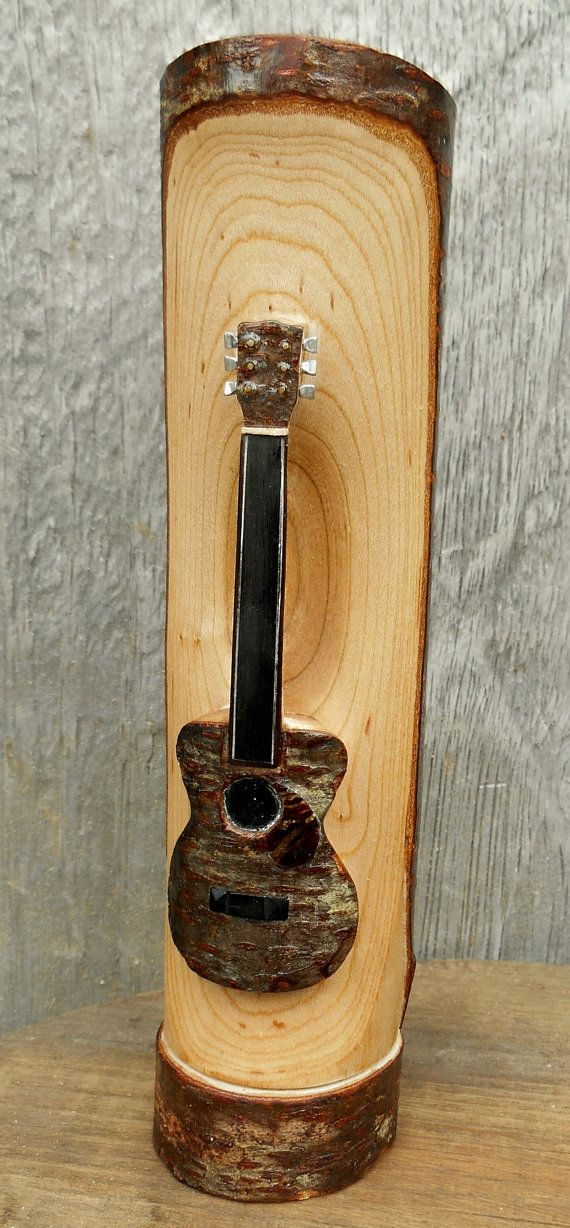 wood guitar carving hand carved guitar display piece with natural finish natural hands and. Black Bedroom Furniture Sets. Home Design Ideas