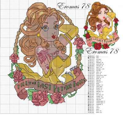 Belle Pin Up cross stitch pattern - this series is amazing!!