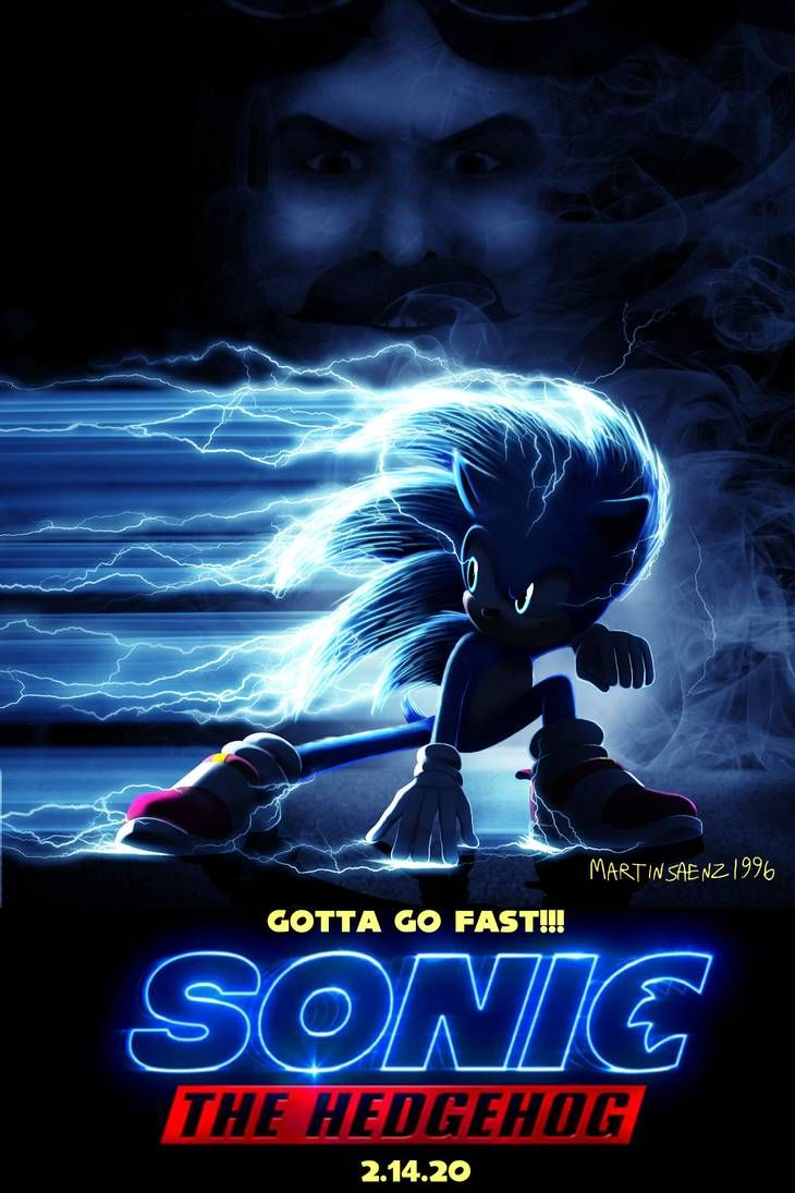 Sonic Movie Poster Mockup By Martinsaenz1996 En 2020 Sonic Fotos Sonic Dibujos Extranos