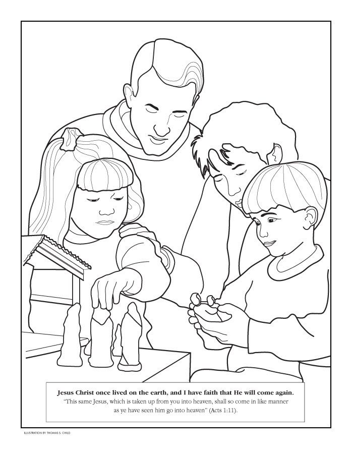 LDS Coloring Pages by Topic- Some nice Bible story