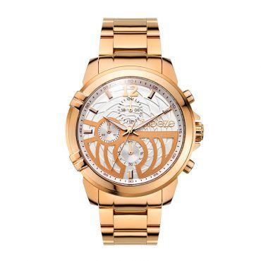 Γυναικείο μοντέρνο αδιάβροχo ρολόι BREEZE Stylegazer 610601.1 με ασημί καντράν και ροζ επίχρυσο ατσάλινο μπρασελέ | Ρολόγια BREEZE ΤΣΑΛΔΑΡΗΣ στο Χαλάνδρι #breeze #stylegazer #μπρασελε #watches #ρολόγια