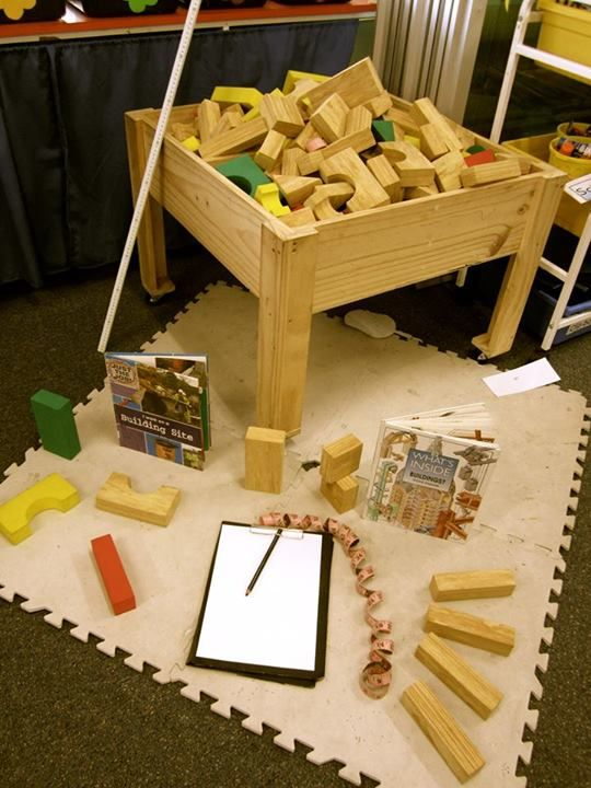 "Construction learning area from St. Elizabeth's PS shared Walker Learning Approach ("",)"