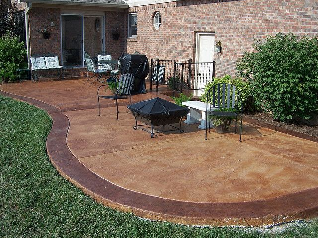 Stained Concrete Patio | For Information On How To Do Your Ou2026 | Flickr