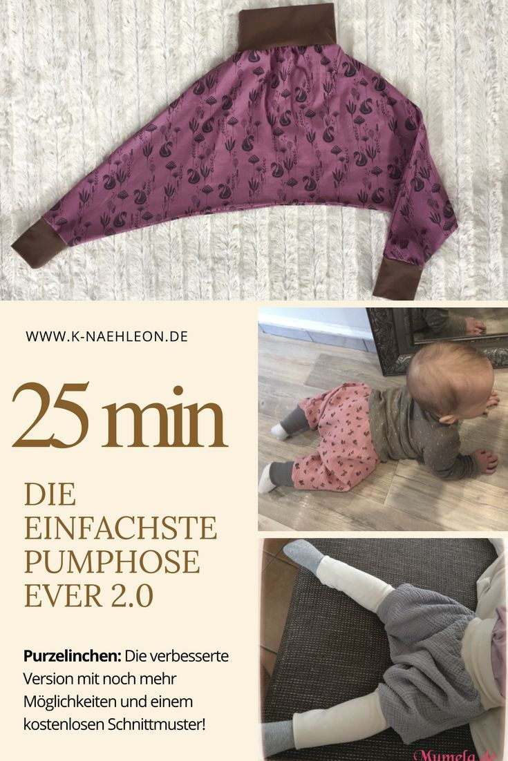 Freebook bloomers Purzelinchen: Sewing for kids, as upcycling or as a snow …   – DIYs für Kinder