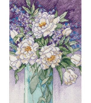 Dimensions® 5''x7'' Counted Cross Stitch-White Peonies