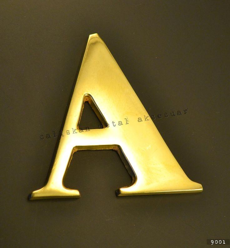 Pirinç Harf ve Rakam, Brass Letters and Numbers