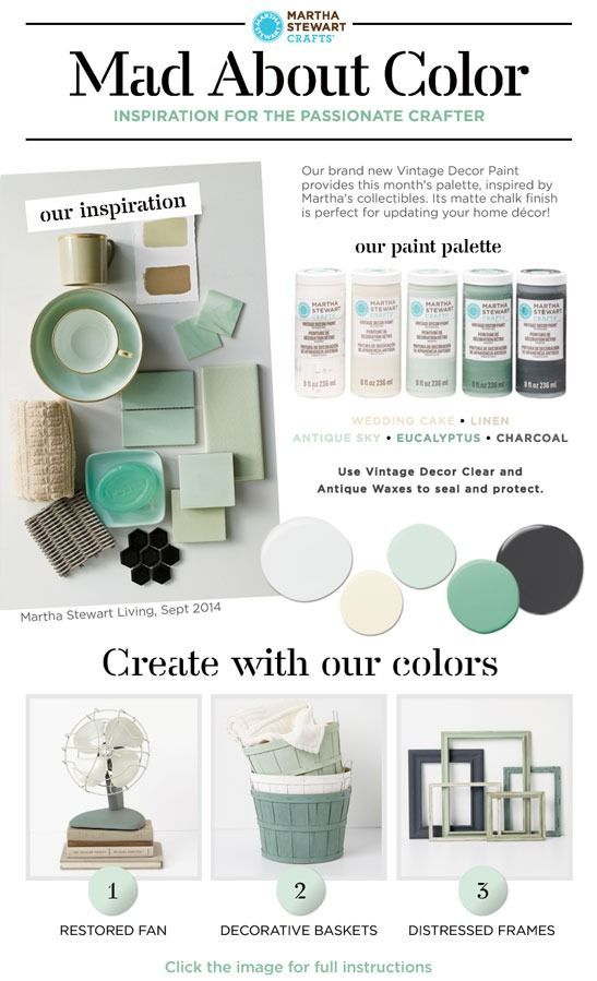 Home Decor Color Palette Idea Inspired By Marthau0027s Vintage Collectibles!  Get Ideas With Martha Stewart Vintage Decor Paint And The Limited Edition  Paint Kit ...