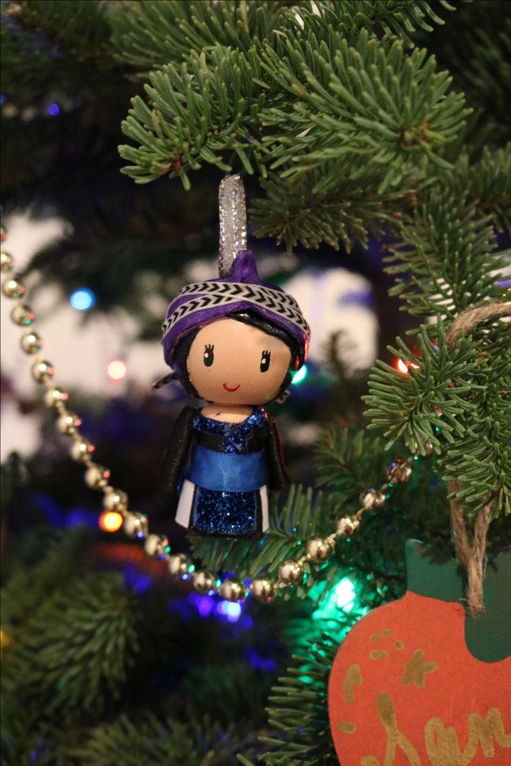 Hmong peg doll ornament made by Rebel Quinn