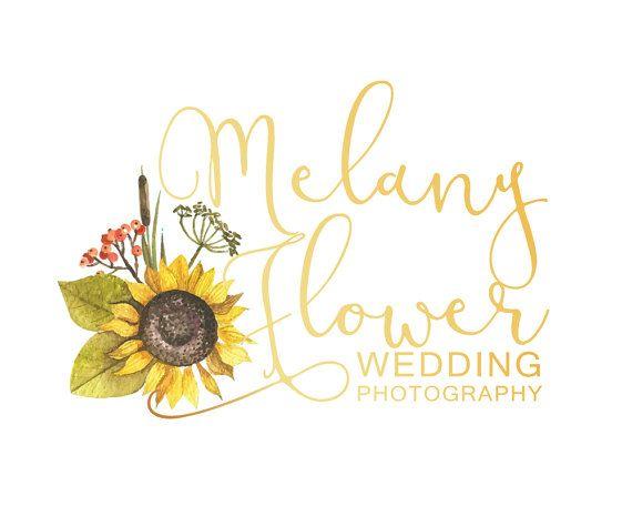 Floral Branding Kit Sunflower Custom Logo Design by LoveArtsStudio
