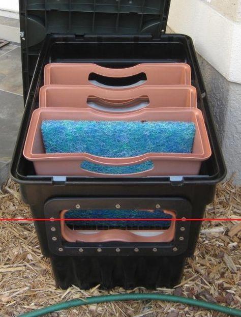Diy filter box for pond google search gardens koi for Koi farm near me