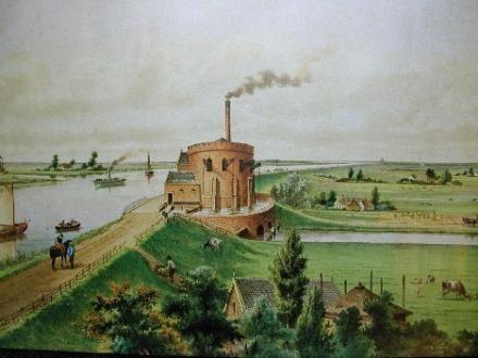 Stoomgemaal Cruquius in 1849