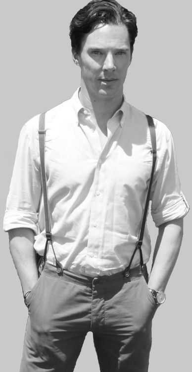 Benedict Cumberbatch sorry.. he put the suspenders... I can't... <3