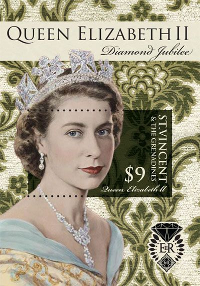 St Vincent & The Grenadines Diamond Jubilee stamp