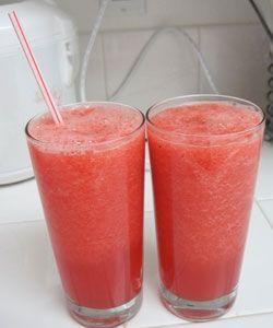 Slush of watermelon and strawberries