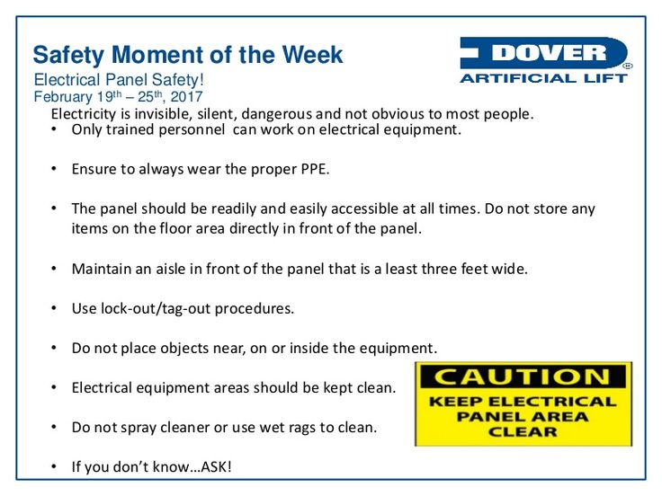 Electrical Panel Safety! Alberta Oil Tool's #Safety Moment of the Week 20-Feb-2017