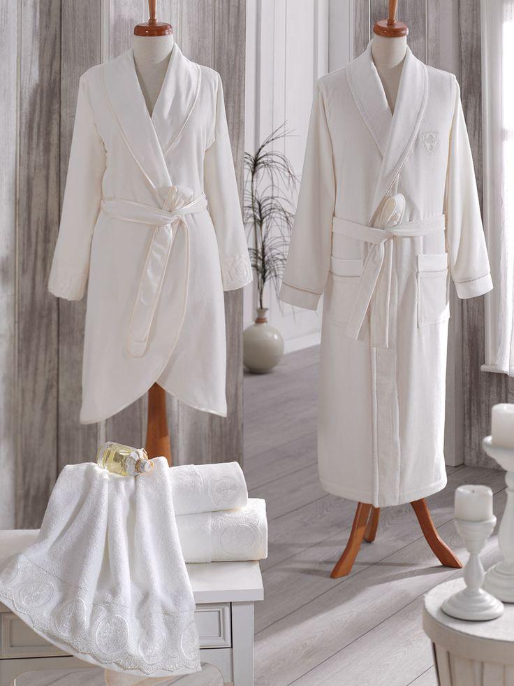 'NADİDE' #Ecocotton  %100 #Organic / #Ladie's Bathrobe / #Mens Bathrobe / #Towel Wirth Lace / #Embroidered Towel http://www.ecocotton.com.tr/UrunDetay.aspx?urun=228lang=2