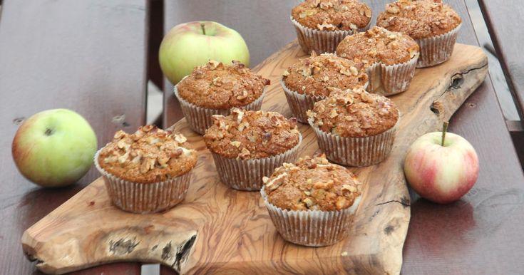 Bezglutenowe, korzenne muffiny z jabłkami i orzechami. Z naturalnych mąk, bardzo proste i szybkie do wykonania. Pożywne, bardzo smaczne...