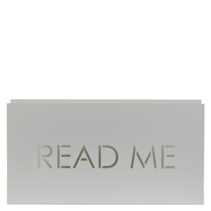 READ ME Magazine rack in white Made from bent steel  Gie El