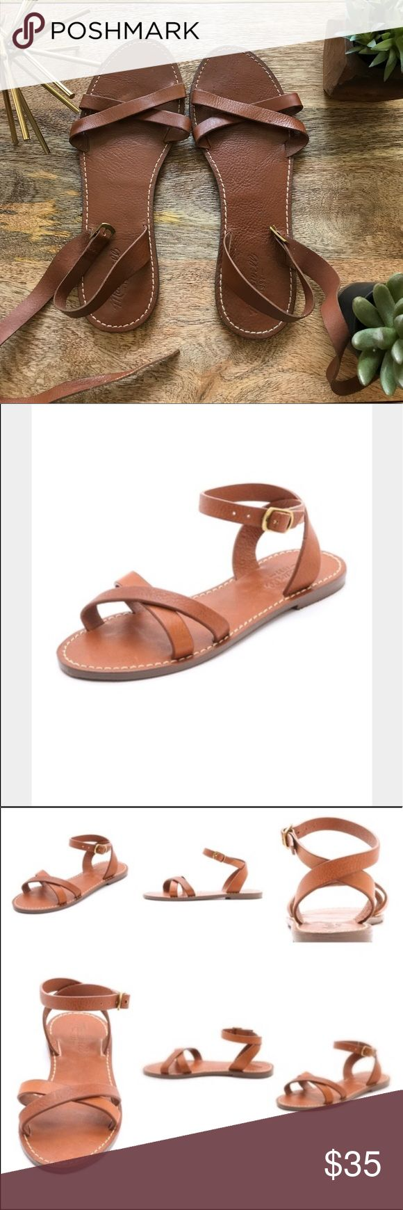 Madewell Brown Sandal Madewell Brown Leather Sandal in good condition. Size 10 Super comfy leather. Madewell Shoes Sandals