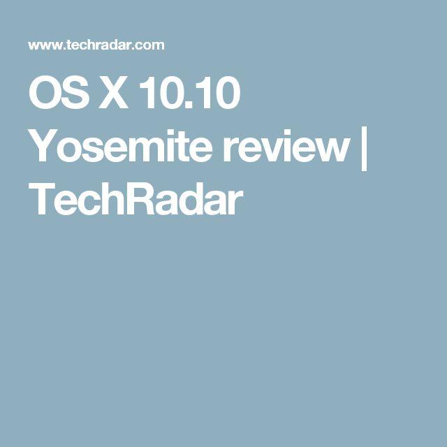 OS X 10.10 Yosemite review | TechRadar