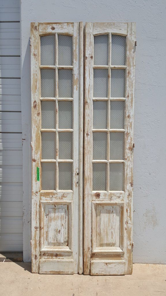 Pair Of 10 Pane French Doors Rustic Doors Interior French Doors Rustic Doors
