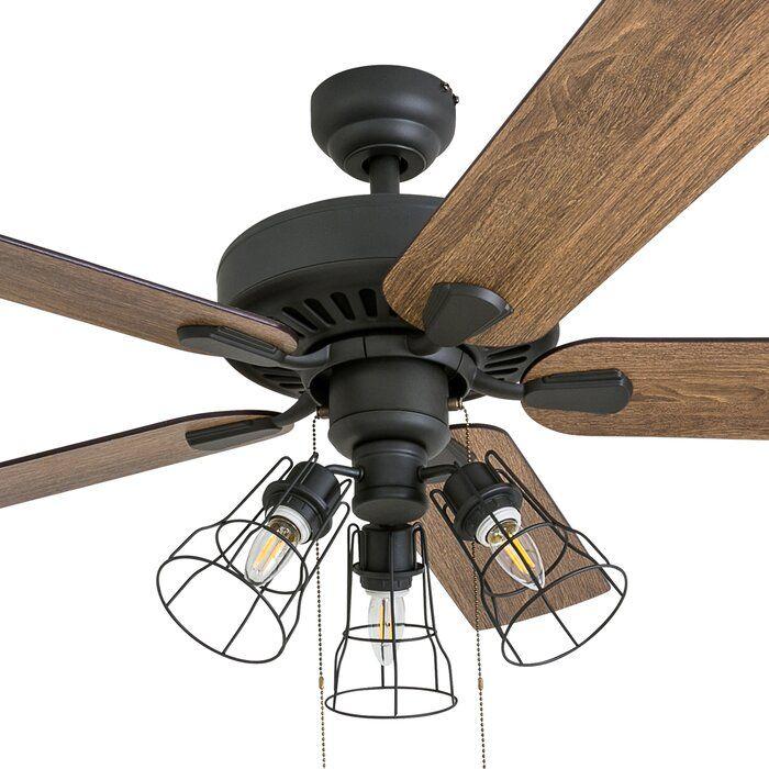 52 Socorro 5 Blade Led Standard Ceiling Fan With Light Kit Included Ceiling Fan With Light Farmhouse Ceiling Fan Led Ceiling Fan