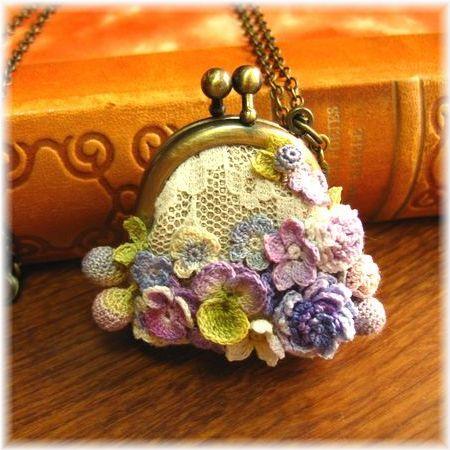 Crochet Flower Coin Purse