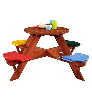 Plum Childrens Garden Picnic Table with 336 Advantage card points. Your young children will feel all grown up with their own garden furniture, the perfect place fora tea party or to play games FREE Delivery on orders over 45 GBP. (Barcode E http://www.MightGet.com/april-2017-1/plum-childrens-garden-picnic-table-with.asp