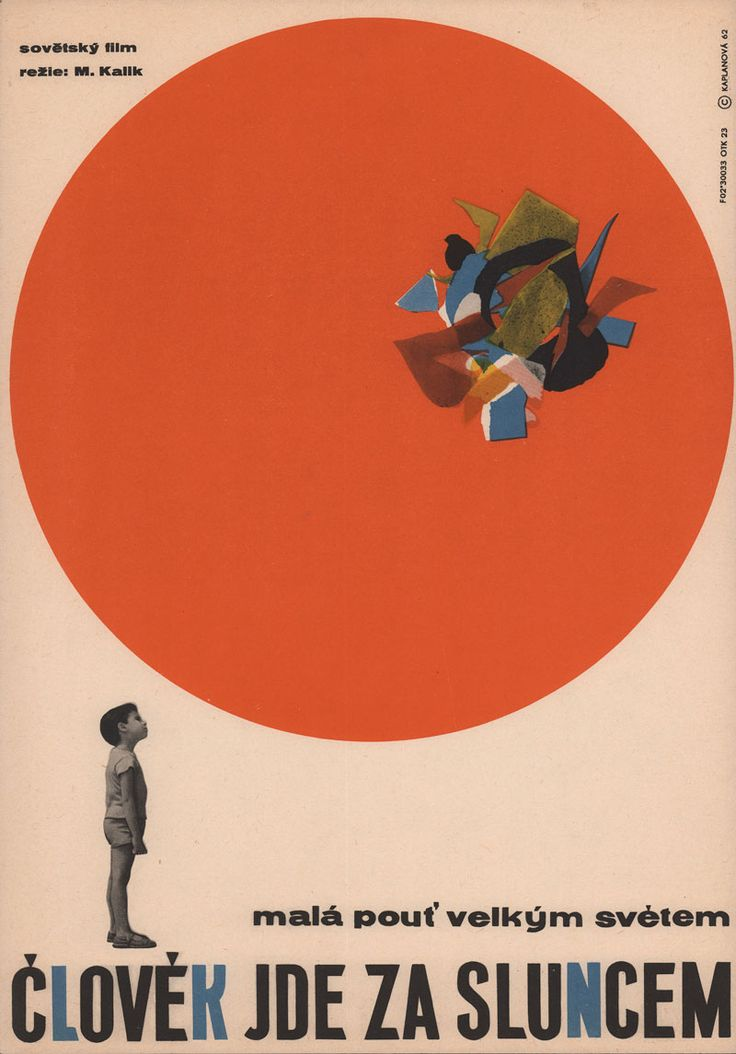 movieposteroftheday: Czech poster for SANDU FOLLOWS THE SUN (Mikhail Kalik, USSR, 1962) Designer: Libuše Kaplanová Poster source: Posteritati