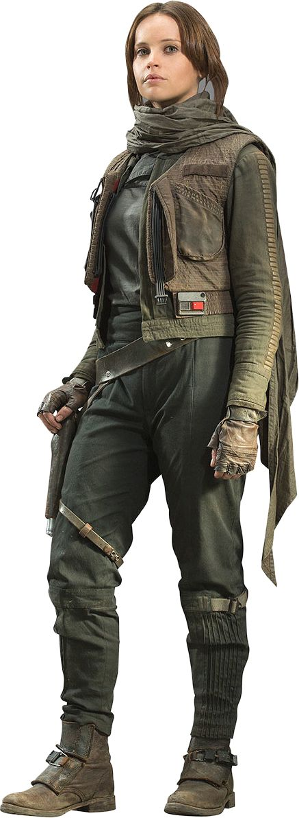 #MidweekPedia Jyn Erso was a human female soldier and former criminal who was a pivotal member of the Alliance to Restore the Republic, serving as a sergeant during their war against the Galactic Empire. Born in a Separatist prison on the icy planet Vallt in 22 BBY, Jyn was the daughter of Galen Erso, a scientist whose knowledge was sought by both the Galactic Republic and the Confederacy of Independent Systems.