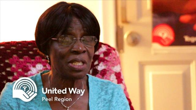 Christianah's story by United Way of Peel Region. I'll call her Rhoda. That's not her name. But this we call our success story.