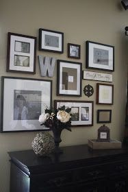 Project Home: Frame Wall. Love the metal accents including the letter.