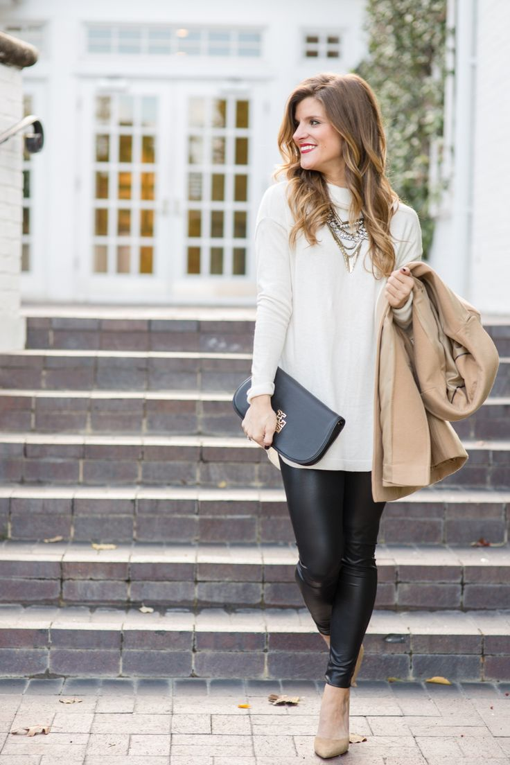 Faux Leather Leggings Outfit, winter date night outfits, what to wear winter date night, liquid leggings