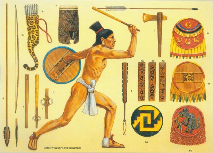Equipo de guerrero azteca.