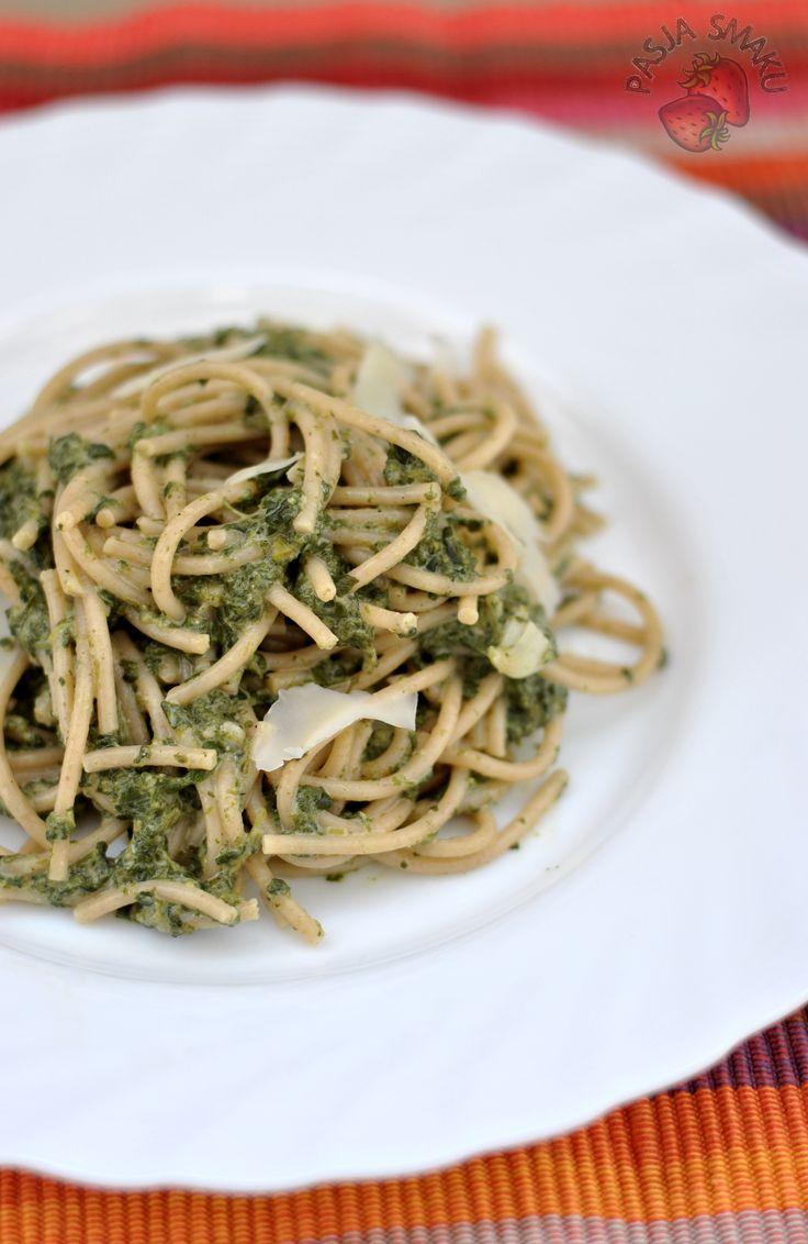 Pasja Smaku: Spaghetti ze szpinakiem