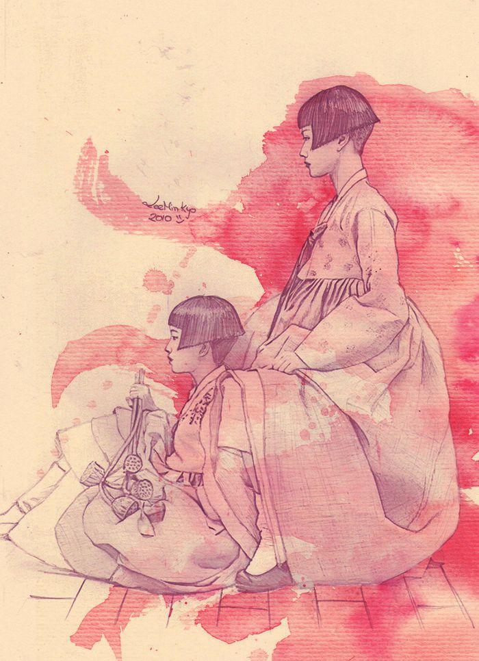 Hanbok family by LeeMinKyo.deviantart.com on @deviantART
