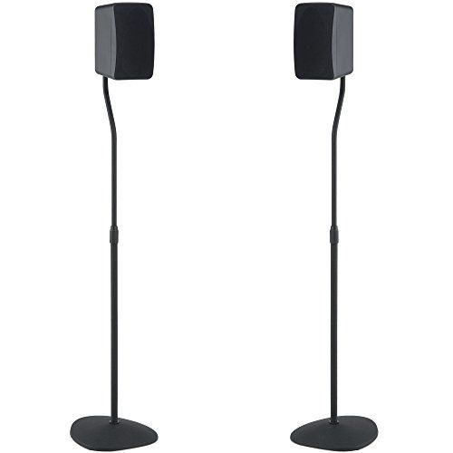 The SANUS VuePoint HTBS satellite speaker stand is the perfect addition to any home theater. The stand is height-adjustable, so satellite speakers up to 3.5 lbs can be positioned 28 in to 38 in from the floor for a customized setup. It can be assembled in minutes using just a Phillips... more details available at https://furniture.bestselleroutlets.com/game-recreation-room-furniture/tv-media-furniture/speaker-stands/product-review-for-sanus-adjustable-height-speaker-stand-ext