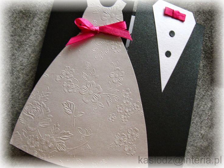 Zaproszenia moja pasja: Sukienka z tłoczeniami