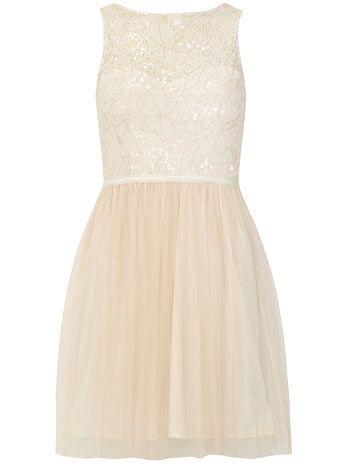 DP Collection Nude sequin bust dress - View all Clothing Brands  - Clothing