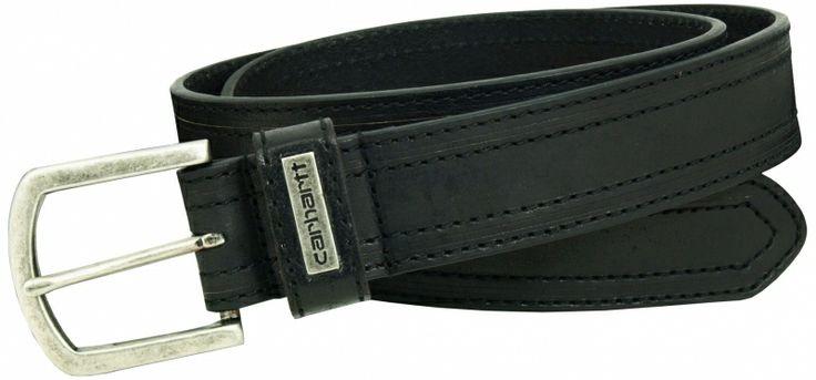 Carhartt læderbælte Double Stitched, sort (2230-BLK) - Diverse - BILLIG-ARBEJDSTØJ.DK