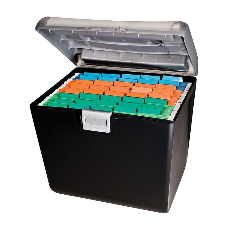 OfficeMax Weather-Resistant Compact File Box 7  x 15  x 13   sc 1 st  Pinterest : hanging box files - Aboutintivar.Com